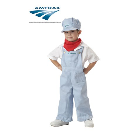 Amtrak Train Engineer Toddler Halloween Costume, Size 3T-4T