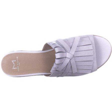 Marc Fisher Womens Whitley Leather Fringe Slide Sandals - image 1 of 2