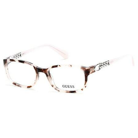 GUESS Eyeglasses GU2558 055 Colored Havana (Multi Colored Eyeglasses)