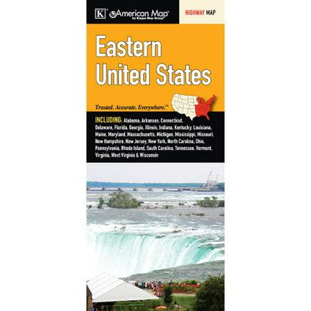 Universal Map United States Regional Eastern Fold Map