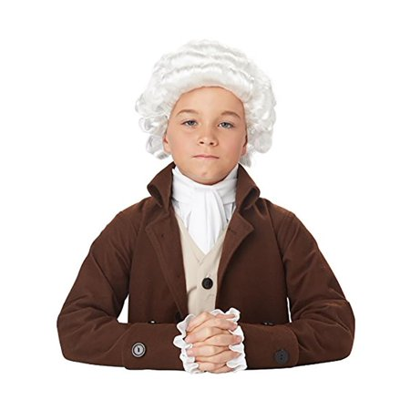 Colonial Man Child Costume Wig - White Wig For Kids