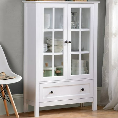 Homestar Miranda Cabinet in White Paint Finish