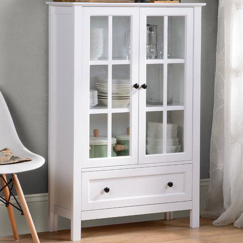 Homestar Miranda Cabinet in White Paint Finish