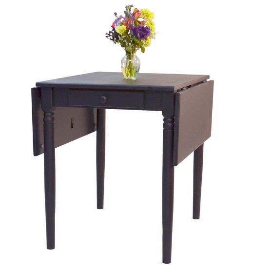 hampton drop leaf table antique black. Black Bedroom Furniture Sets. Home Design Ideas