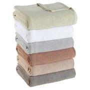 True Cotton Thermal Blanket King, 108x90, Blue/Cream