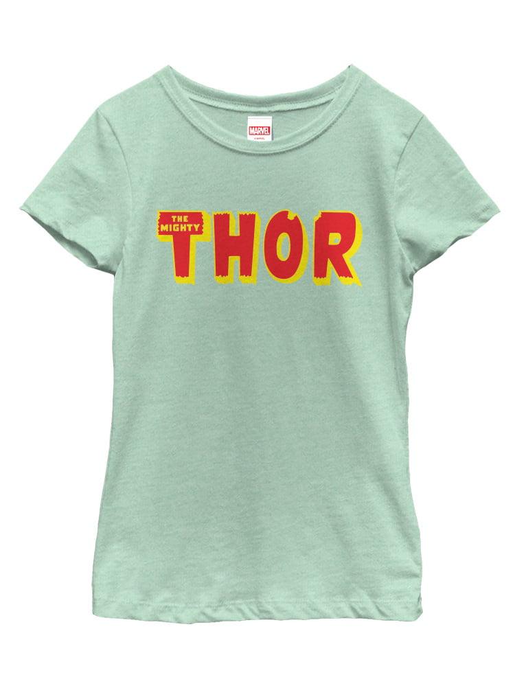 Marvel Girls' Thor Text Logo T-Shirt