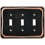 Brainerd Tenley Triple Switch Wall Plate, Bronze