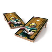 Aaron Rodgers Green Bay Packers 2' x 3' Player Vintage Authentic Tailgate Toss Set - - No Size