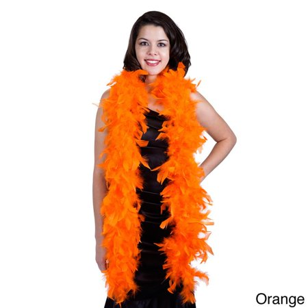 Zucker Feather Products Chandelle Medium Weight Boa - Orange - Orange Feather Boa