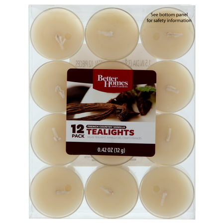 Better homes and gardens tea lights french country vanilla 12 pack for Country garden 6 pack