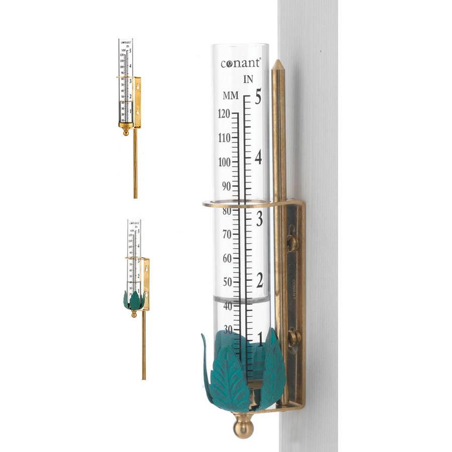 "Conant VGR1LFB 6-1/2"" Brass Rain Gauge"