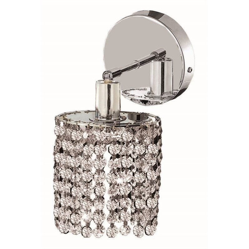 Elegant Lighting Mini Royal Crystal Round Wall Sconce