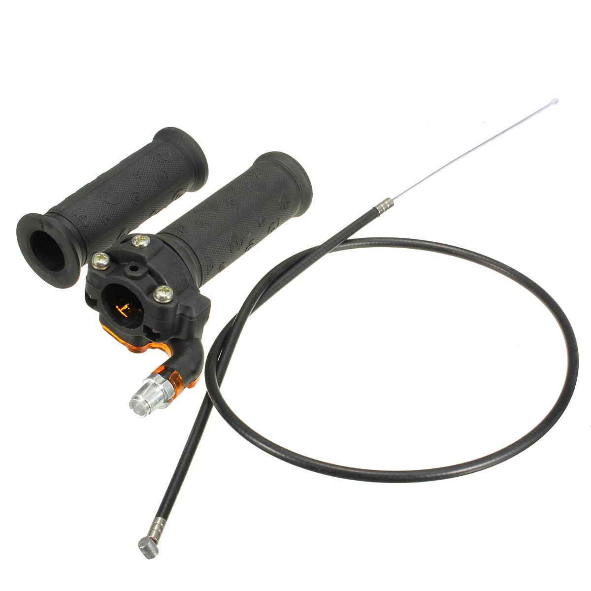 1 Set 90cc 110cc 125cc 140cc 150cc 200cc 250cc 4-stroke Dirt Bike Mini Bike 22mm7//8Inch Twist Throttle Accelerator Handle Grips Handle Grip + Cable + Throttle Clamp + Flameout Switch Fits 50cc