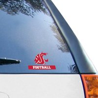 """Washington State Cougars WinCraft 4"""" x 5"""" Perfect Cut Football Decal"""