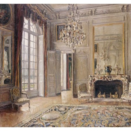 Salon De Madame De Maintenon Stretched Canvas - Maurice-Eugene Delaporte (24 x 24) (Saloon Madame)