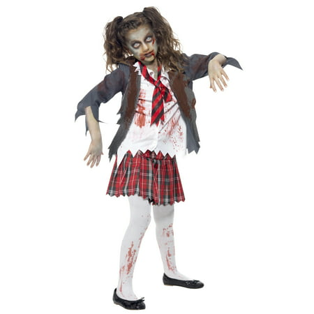 Kids Zombie School Girl Costume - Plus Size Zombie Costumes
