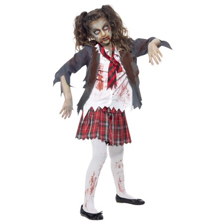 Diy School Girl Halloween Costumes (Kids Zombie School Girl)