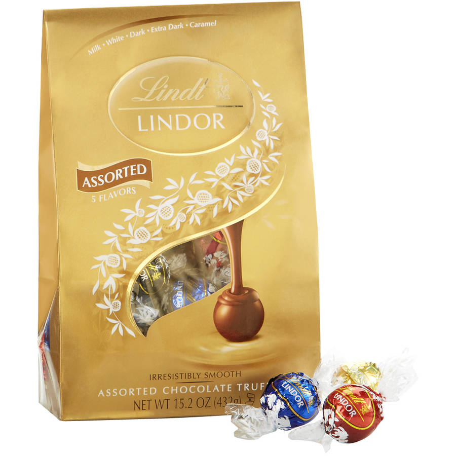 Lindt Lindor Assorted Chocolate Truffles, 15.2 oz