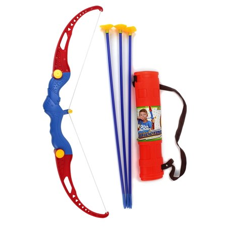 Suction Dart Shooting Bow Archery Toy Bow & Arrow w/ 3 Suction Dart Arrows & Quiver (Archery Beginner For Children)](Hawkeye Bow And Arrow For Kids)