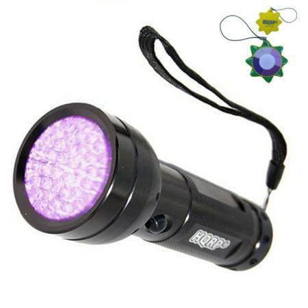 HQRP 390 nM 51 UV LED Ultraviolet Saliva / Sperm Identification Flashlight / Blacklight + HQRP UV Meter