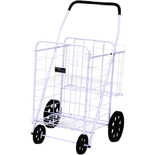 Easy Wheels Jumbo Shopping Cart Plus, White, 1ct