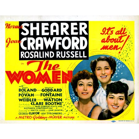 The Women From Left Joan Crawford Norma Shearer Rosalind Russell 1939 Movie Poster Masterprint
