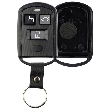 KeylessOption Keyless Entry Remote Key Fob Case Shell Button Pad Cover Leather Strap PINHACOEF311T for