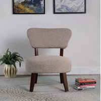 Round Seat Accent Chair, Taupe