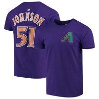 Randy Johnson Arizona Diamondbacks Majestic Cooperstown Collection Official Name & Number T-Shirt - Purple