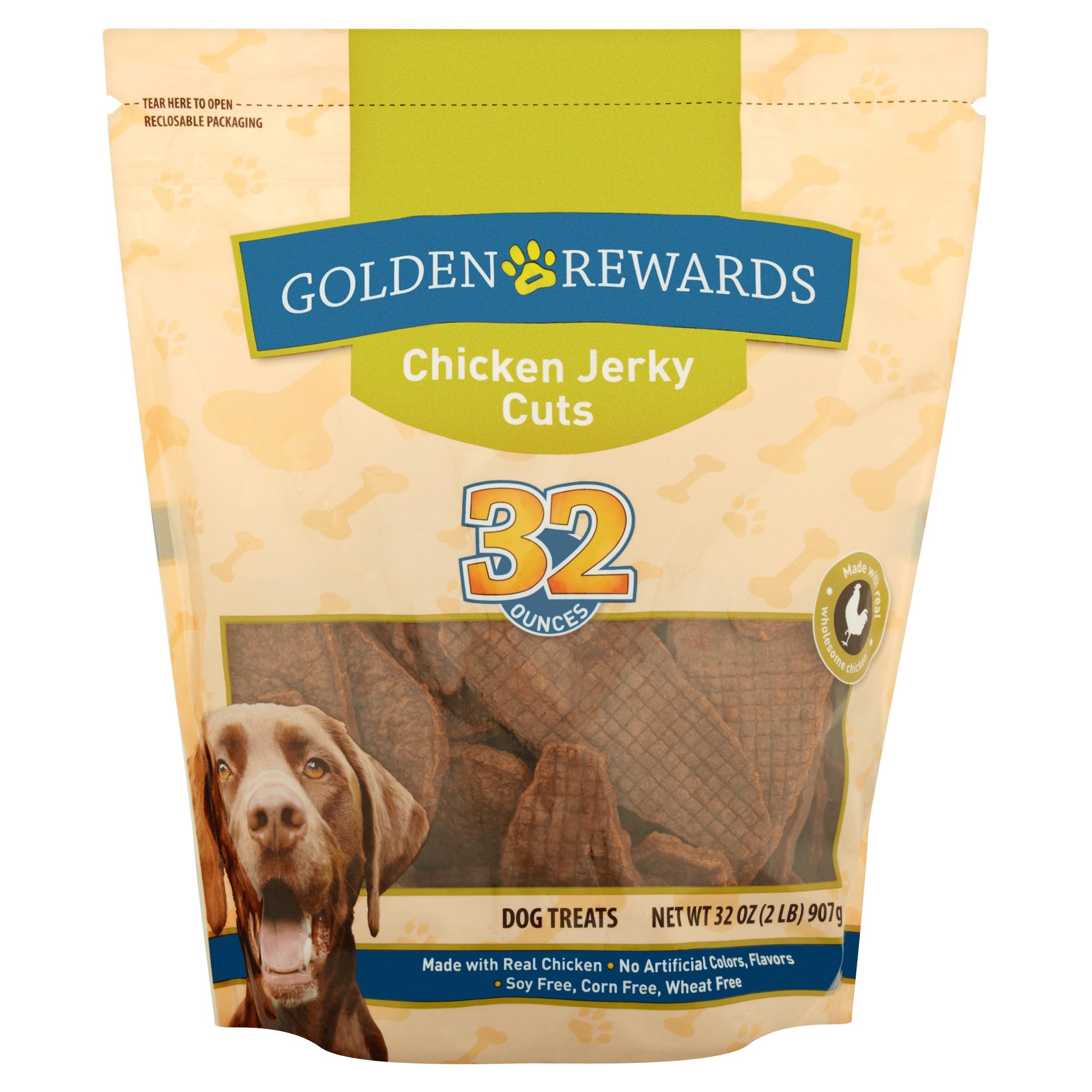 Golden Rewards Chicken Jerky Dog Treats, 32 oz. by Gambol Pet Group Co.,Ltd.