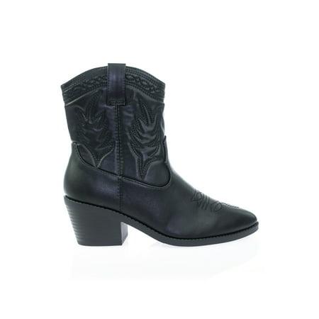 c759408b53fb9 Soda - Picotee by Soda, High Ankle Western Cowboy Boots, Chunky Stack Block  Heel & Stitch Detail - Walmart.com