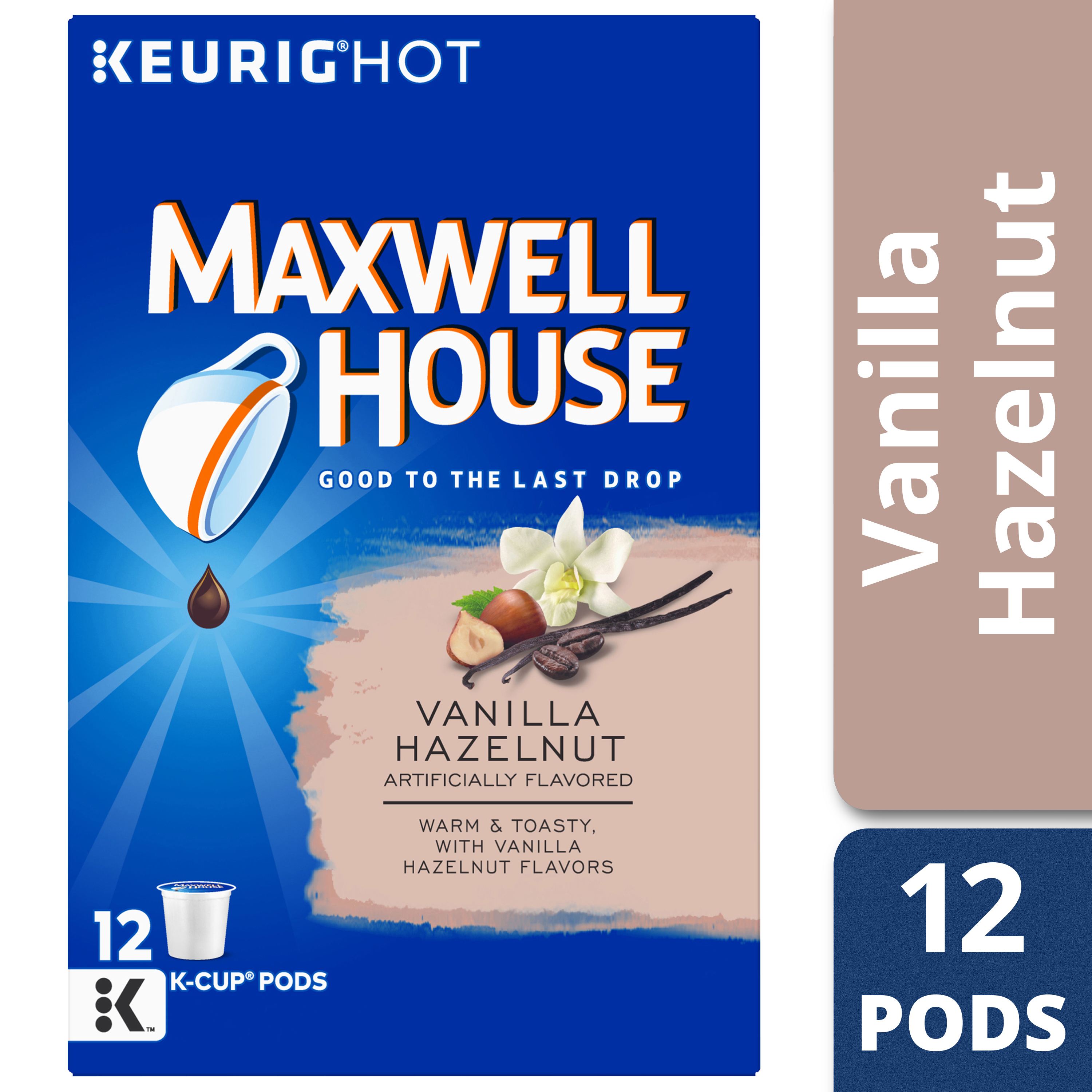 Maxwell House Vanilla Hazelnut Coffee K-Cup Packs, 12 count Box