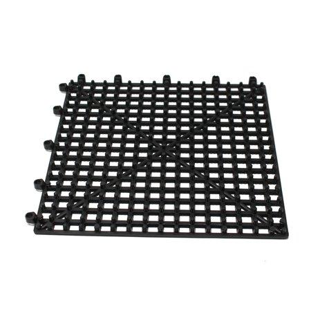 Flexible Plastic Black 12 pack Interlocking Tile Flexible Patio ...