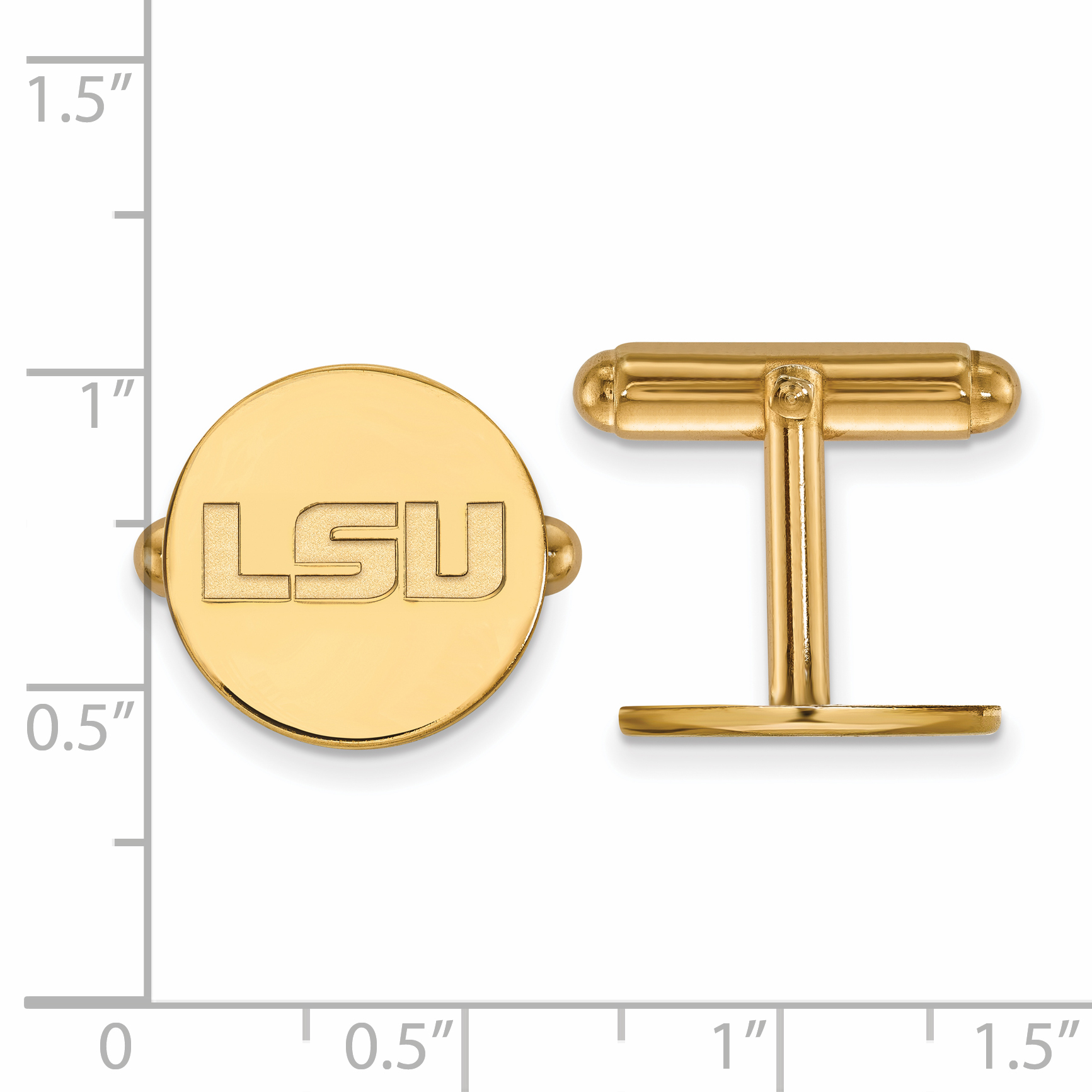 LSU Cuff Links (14k Yellow Gold) - Walmart.com