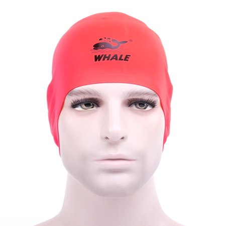 Free Size Unisex Particles Swimming Cap Hat Waterproof Hair Care Protect Ears Silicone Swim Cap - image 4 of 7