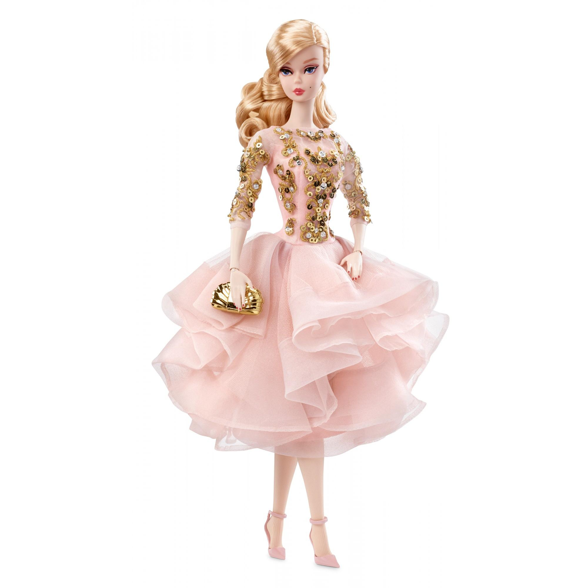 Barbie Collector Barbie Fashion Model Collection Doll Blush & Gold Cocktail Dress