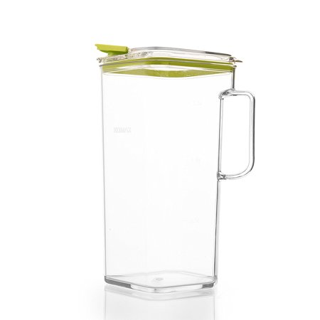 Komax Tritan Clear Large (2 quart) Pitcher With Green Lid BPA-Free - Great for Iced tea & Water ()