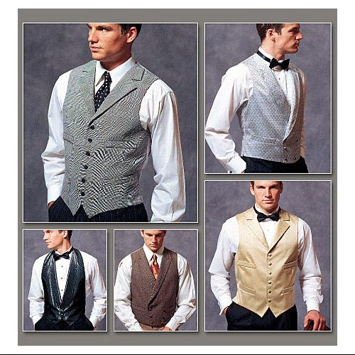 Men's Vests - All Sizes in One Envelope Pattern