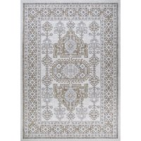 Deals on Couristan Charm Woodburn Ivory-Sand Indoor/Outdoor Area Rug