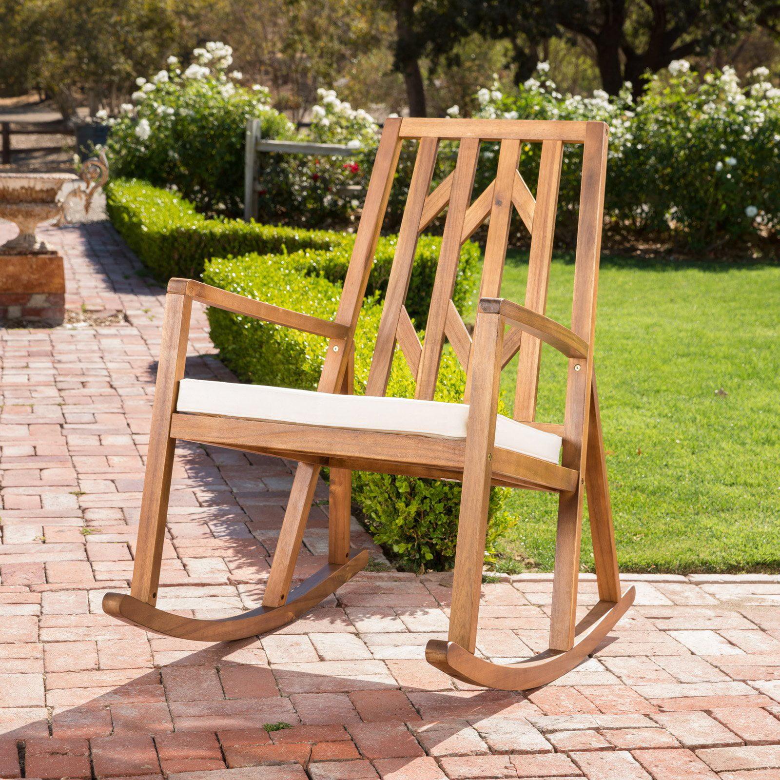 Nunez Outdoor Wood Rocking Chair