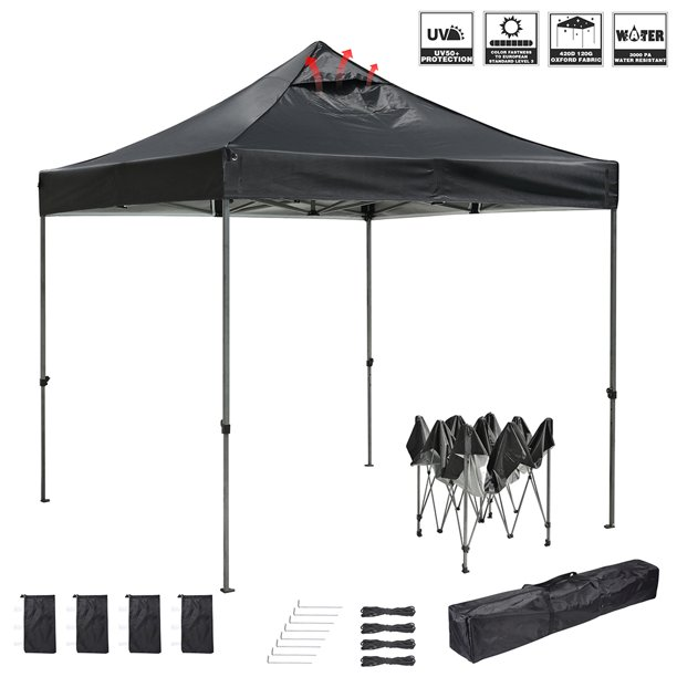 InstaHibit 10x10 FT Pop up Canopy Instant Tent Portable Bag Outdoor Picnic BBQ