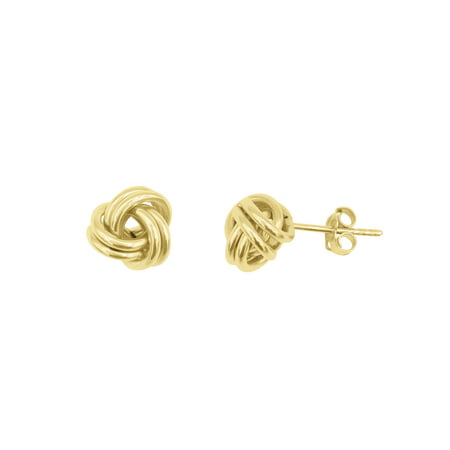 10K Yellow Gold Love Knot Stud (Dragon Knot Earrings)