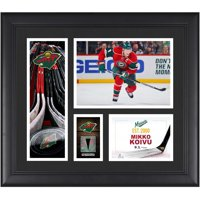 """Mikko Koivu Minnesota Wild Framed 15"""" x 17"""" Player Collage with a Piece of Game-Used Puck"""