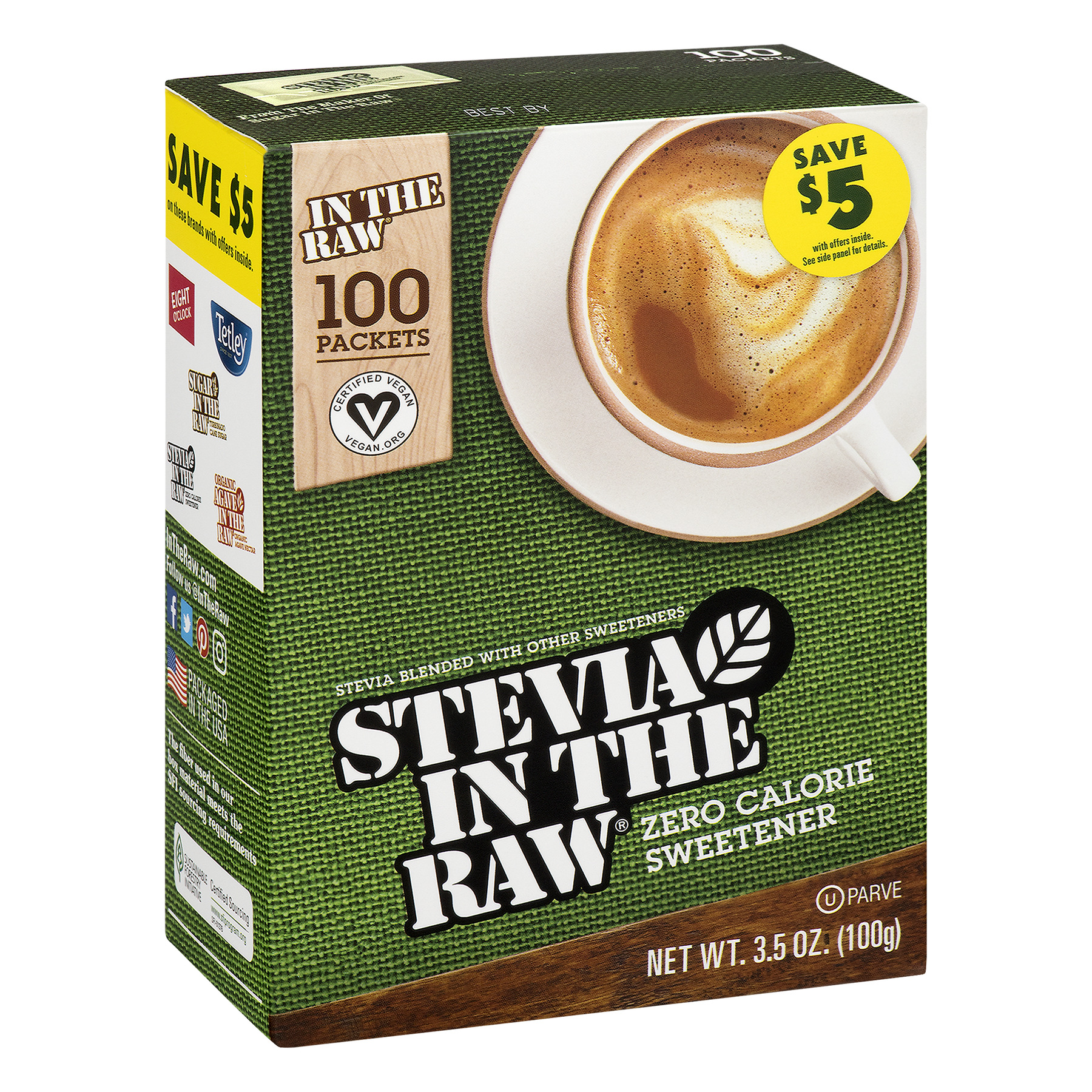 (100 Count) Stevia in the Raw Zero Calorie Sweetener