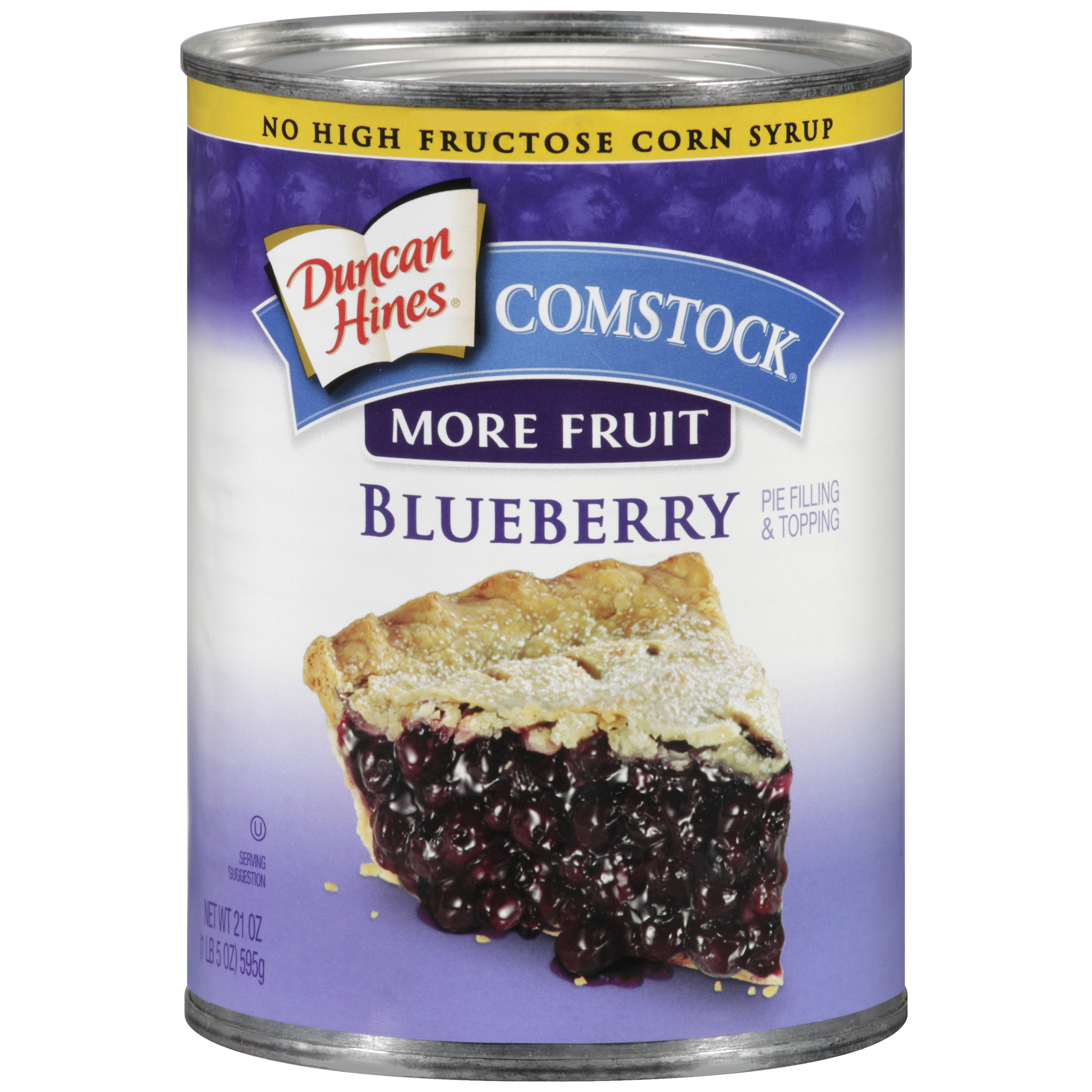 Duncan Hines�� Comstock�� Blueberry Pie Filling & Topping 21 oz. Can.