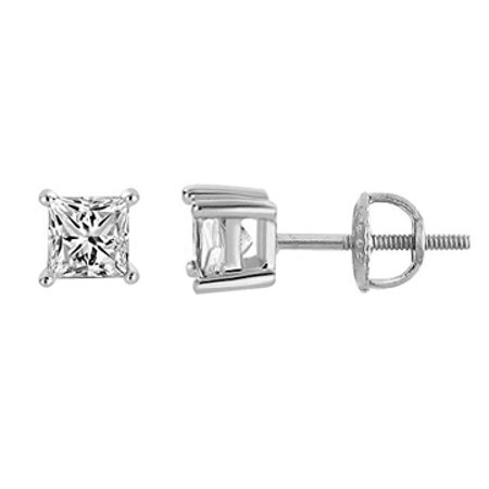 Natural Diamond Stud Earrings Screw Back Perfect Gift - image 3 of 7