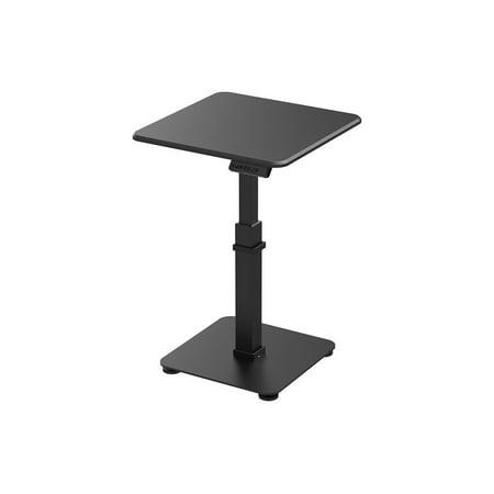 Monoprice Single Motor Mono-Leg Sit-Stand Desk Pedestal - Black With Electric Height Adjusment, Solid Stable Platform - Workstream Collection