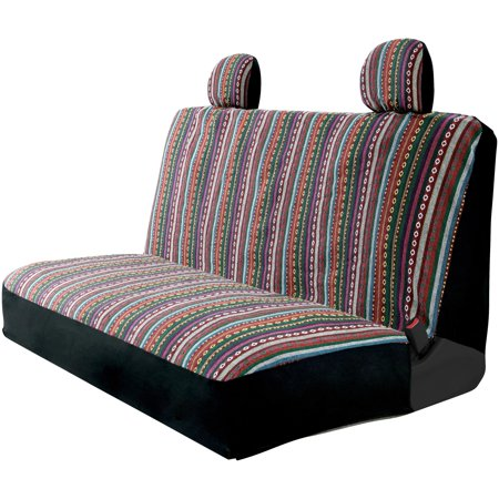 Surprising Auto Drive Easy To Install Multicolored Striped Bench Seat Cover Ncnpc Chair Design For Home Ncnpcorg