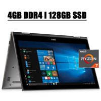 Dell Inspiron 13 7000 Convertible 2 in 1 2020 Premium Business Laptop I 13.3'' FHD IPS Touchscreen I AMD Quad-Core Ryzen 7 2700U (>i7-7500U) I 4GB DDR4 128GB SSD I MaxxAudio Backlit KB WIFI Win 10