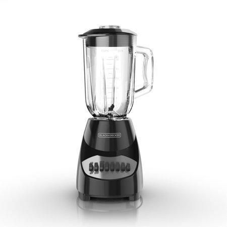 Black+Decker with Glass Jar 10 Speed Blender Black (BL2010BG)